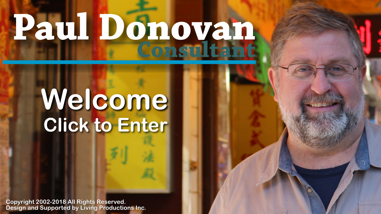 Welcome to Paul Donovan